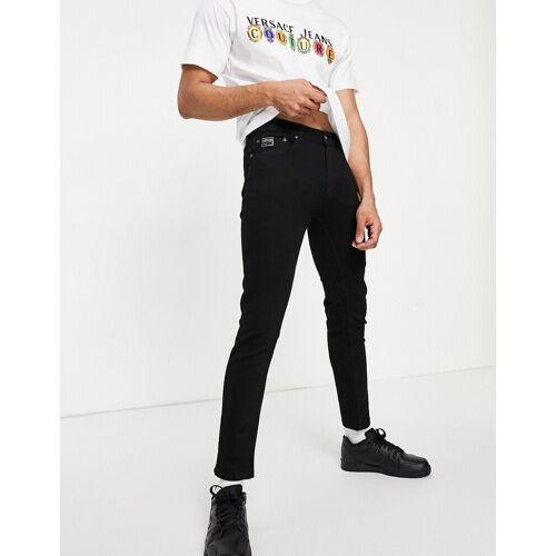 Versace Jeans Couture Versace Jeans – Couture – Jeans in Schwarz mit Logo-Tasche W30