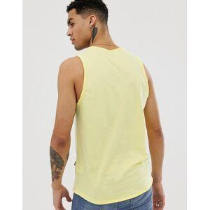 Solid – Gelbes Trägershirt mit Cape Town-Print-Cremeweiß S