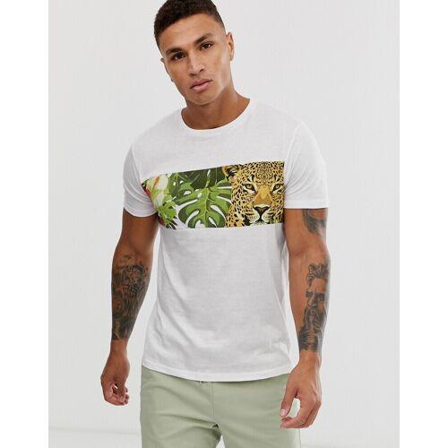 Brave Soul - Cheetah - T-Shirt - Weiß