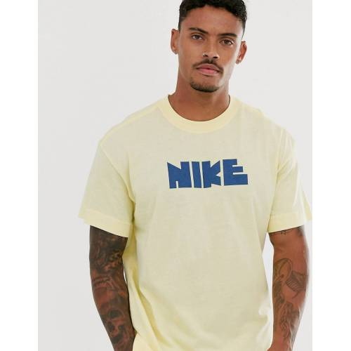 Nike - Gelbes T-Shirt mit Logo - Gelb