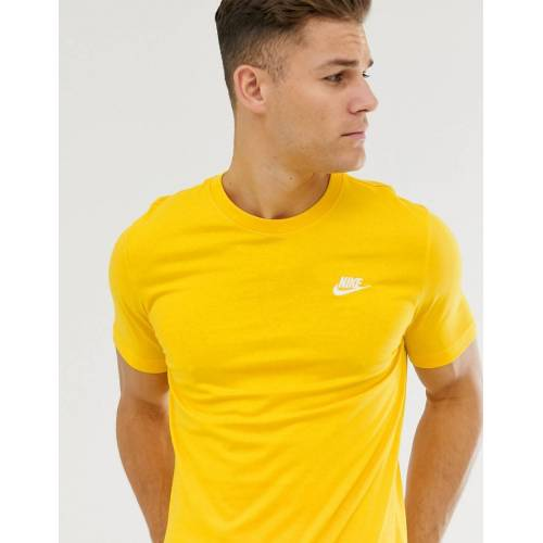 Nike Club - Gelbes T-Shirt mit Logo - Gelb