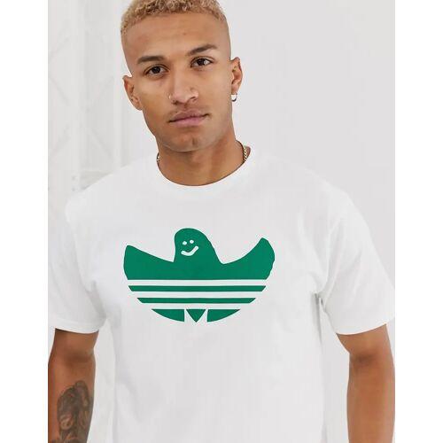 adidas Skateboarding adidas – Skateboarding – Weißes T-Shirt mit Shmoo-Logo XS