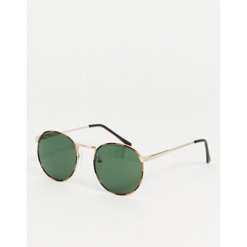 AJ Morgan – Runde Sonnenbrille in Gold No Size