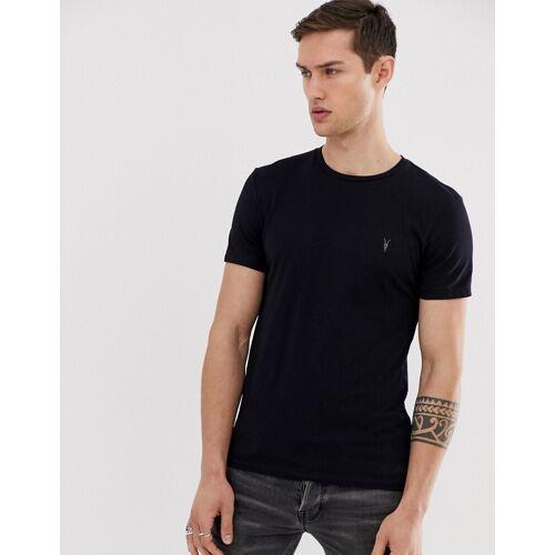 AllSaints – Tonic – T-Shirt mit Widderkopf-Logo in Marine-Navy S