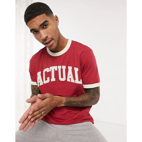ASOS Actual ASOS – Actual – Legeres T-Shirt in Rot mit Actual-Logoprint L
