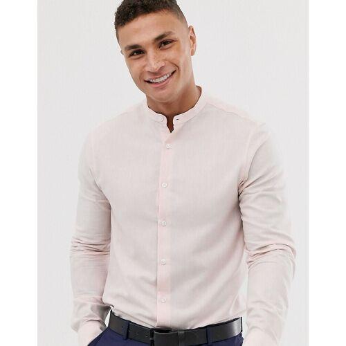 ASOS DESIGN – Schickes, schmales Hemd in Rosa Kalk XL