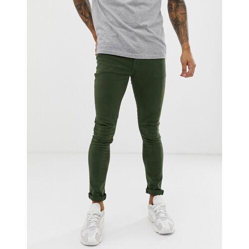 ASOS DESIGN – Superenge Jeans in Grün W36 L32