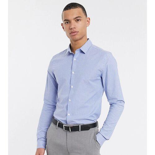 ASOS DESIGN Tall – Schmales, schickes Hemd in Blau M Lang