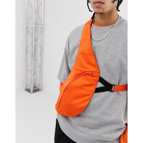 ASOS DESIGN – Umhängetasche in Orange mit Gurtzeug No Size