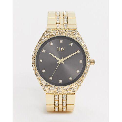 ASOS EDITION – Goldene Armbanduhr mit Kristallen No Size
