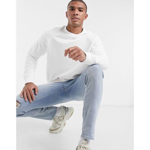 Bershka – Weißes Sweatshirt XL