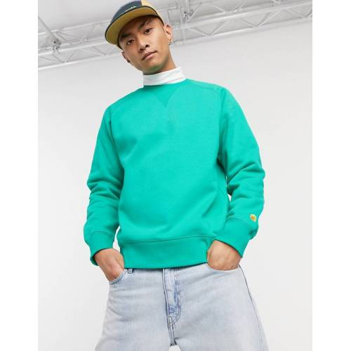 Carhartt WIP – Chase – Sweatshirt in Yoda & Gold-Grün M