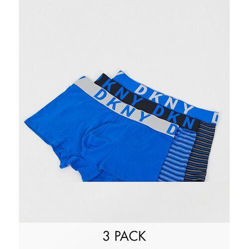 DKNY – Boston – Unterhosen im 3er-Pack mit Streifen-Blau XL