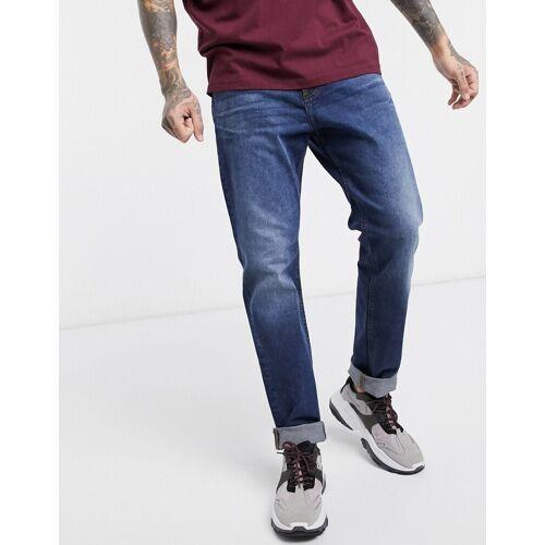 Dr Denim – James – Lässige Jeans in Karottenform-Blau W27 L34