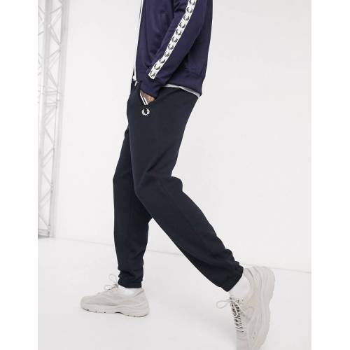 Fred Perry – Frotteeartige Jogginghose mit in Marine-Navy S