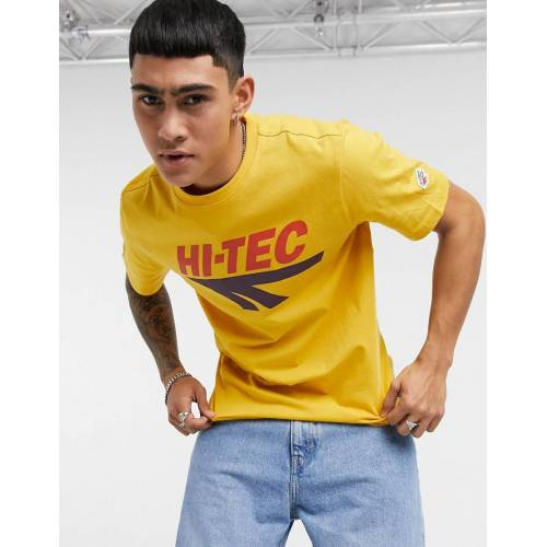 Hi-Tec – Gelbes T-Shirt mit großem Logo M