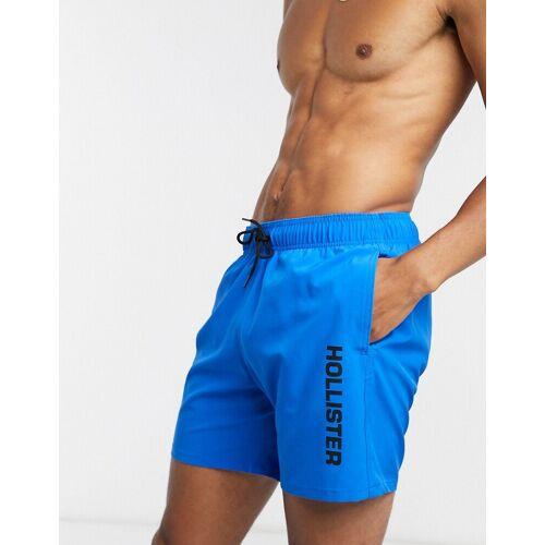Hollister – Guard – Badeshorts mit Logo in Blau XL