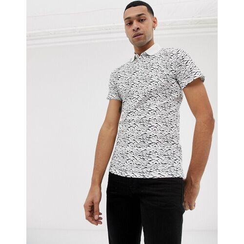 Jefferson – T-Shirt mit Vogelmotiv-Cremeweiß M