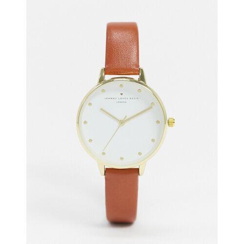 Johnny Loves Rosie – Uhr mit braunem Armband Einheitsgröße