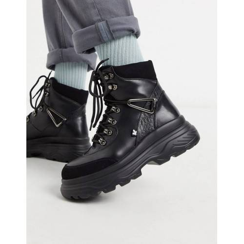 Koi Footwear – Vegane Wanderstiefel in Schwarz 44