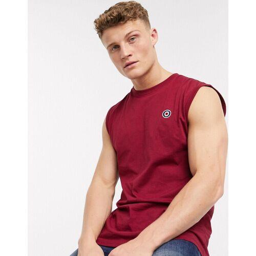 Lambretta– Ärmelloses T-Shirt-Rot XL