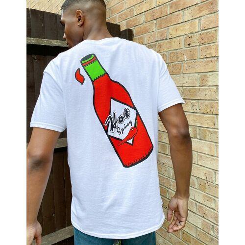 New Love Club – Weißes T-Shirt mit Flaschen-Motiv M
