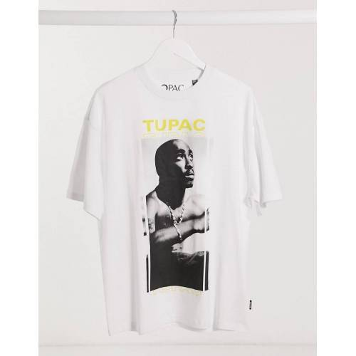 Only & Sons– Tupac – Oversize-T-Shirt-Weiß M