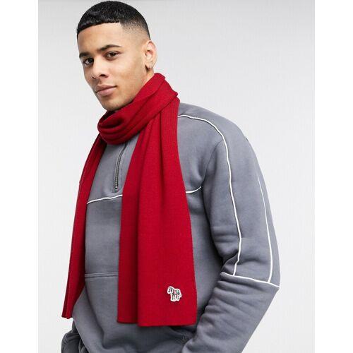 PS Paul Smith – Roter Schal mit Zebra-Logo No Size