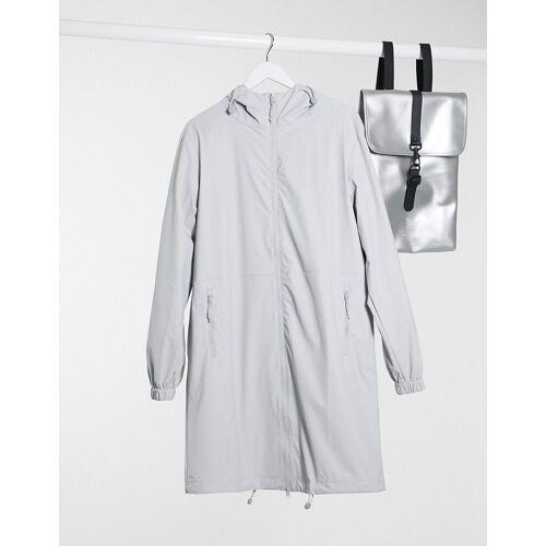 Rains – Ultraleichte Parka-Jacke in Grau S/M
