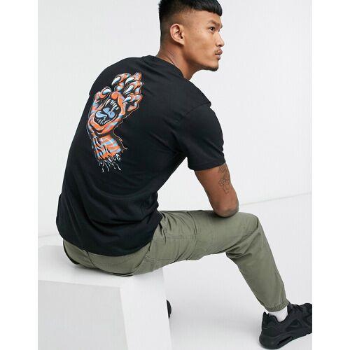 Santa Cruz – Salba – T-Shirt mit Tigerpfoten-Motiv in Schwarz M