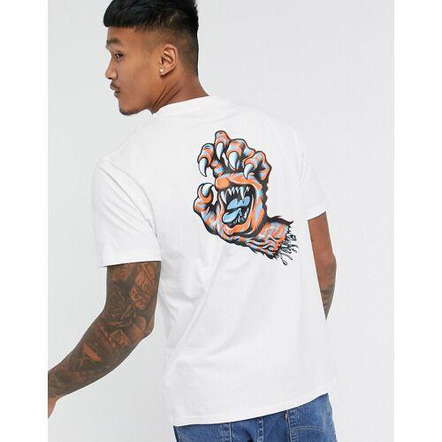 Santa Cruz – Salba – Weißes T-Shirt mit Tigerpfoten-Motiv XL
