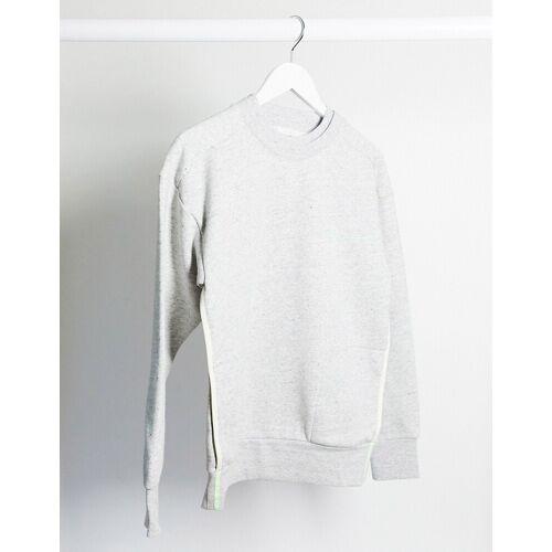 Scotch & Soda – Club Nomade – Sweatshirt aus zusammengesetzten Bahnen-Grau M