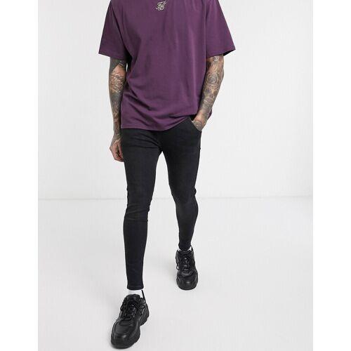 SikSilk – Enge, schwarze Jeans L