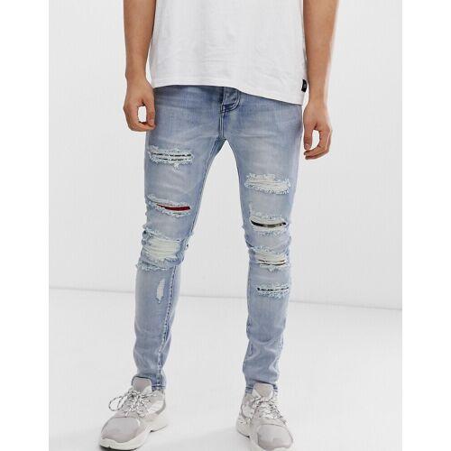 Sixth June – Superenge Jeans in Blau alt W31 L32