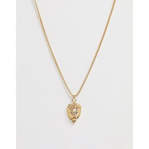 7X SVNX – Halskette mit Löwenkopfanhänger-Gold No Size