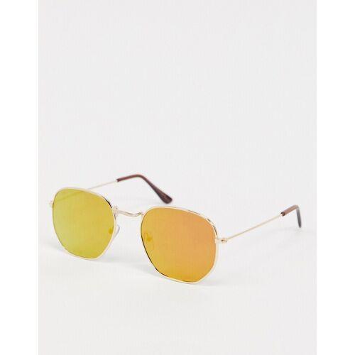 7X SVNX – Kleine, sechseckige Retro-Sonnenbrille-Gold No Size