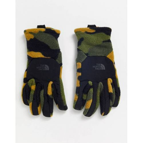 The North Face – Denali Etip – Touchscreen-Handschuhe in Khaki mit Military-Muster-Grün S