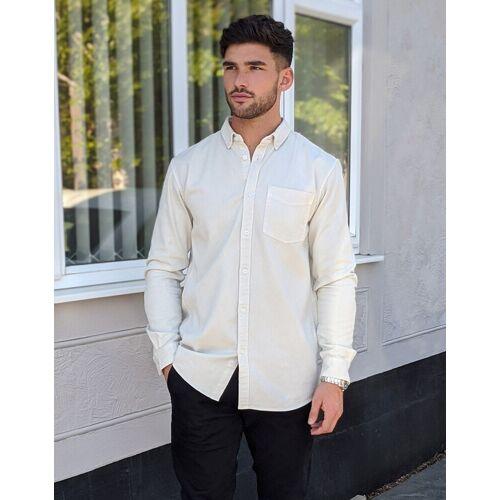 Tom Tailor – Hemd aus Twill mit Pigmentfarbe in Grau XL