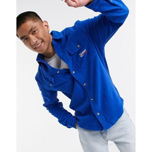 Tommy Jeans – Blaues Hemd aus Polarfleece M