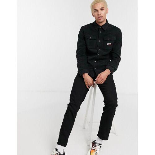 Tommy Jeans – Hemd aus Polarfleece in Schwarz S