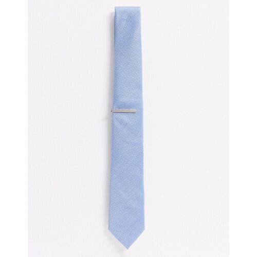 Topman – Set mit Krawatte und Krawattennadel in Blau-Mehrfarbig Einheitsgröße