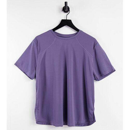 ASOS 4505 Curve – Hochleistungs-T-Shirt-Lila 50
