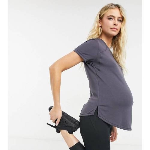 ASOS 4505 – Umstandsmode – Sport-T-Shirt-Grau 34
