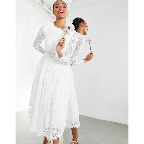 ASOS EDITION – Kate – Kurzes Hochzeitskleid aus weißer Spitze 42