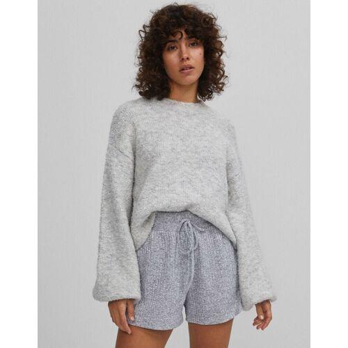 Bershka – Kastenförmiger Pullover in Grau S