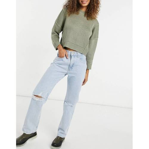 Cotton:On Cotton On – Dad-Jeans in heller Waschung-Blau 42