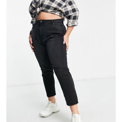 Cotton:On Plus Cotton:On Curve – Schwarze Mom-Jeans mit hohem Bund 50