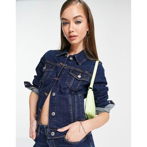 Mango – Jeansjacke in Blau M