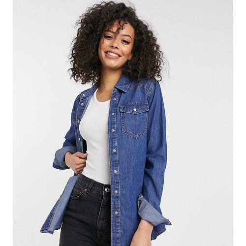 New Look Tall – Blaues Jeanshemd 36