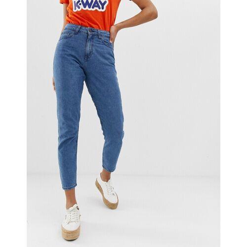 Noisy May – Knöchellange Mom-Jeans-Blau W32 L32